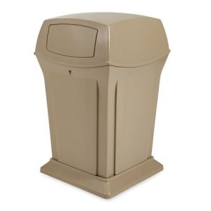 RUBBERMAID Ranger Container, 2 door lid