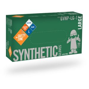 Blue Synthetic Gloves, powder free- 100/Box (Nitech)