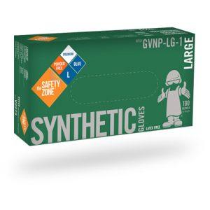 Blue Synthetic Gloves, powder free- 100/Box (Nitech)