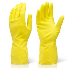 RONCO Rubber Gloves, yellow
