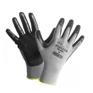 Black Gloves- Nitrile Palm Coated