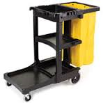 RUBBERMAID Cleaning Cart with zipper bag