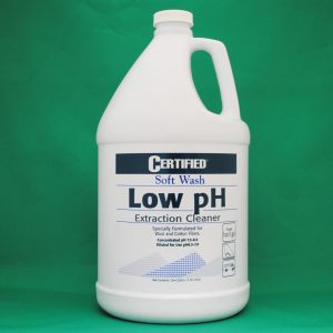 CERTIFIED Soft Wash, Low pH Extraction Cleaner – 1 gallon