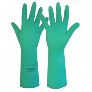 RONCO SOL-FIT Nitrile, flocked lined Gloves