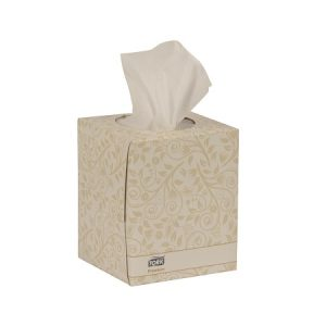TORK 2 Ply Facial Tissue, Premium cube box – 30 boxes x 100 sheets per case