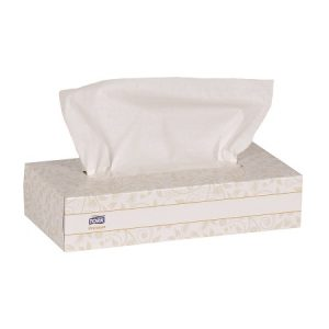 TORK 2 Ply Facial Tissue, Premium flat box – 30 boxes x 100 sheets per box