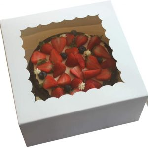Cake Box 8 x 8 x 2.5 with Window