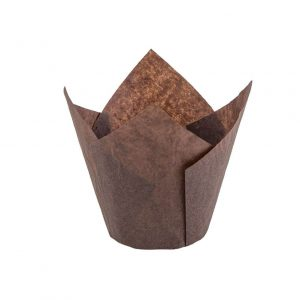 Tulip Baking cup Brown 121053