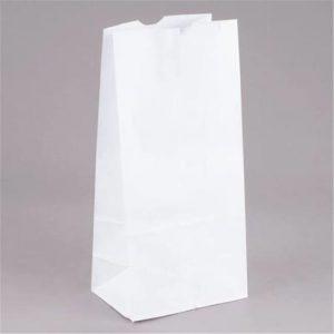 White Paper Bag 8lb Qty 500
