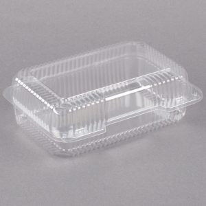 Hinged Lid Container Clear 9″ x 6″ x 4″ Qty 500