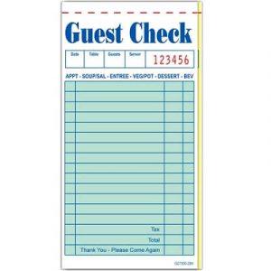Guest Checks 10 x 5 Books 2 Copy