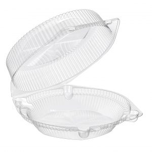 9″ Hinged Deep Pie Container Clear Qty 200