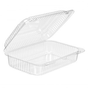 SLP40S Hinged Squat Clear Container Qty 300 (075882)