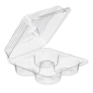 SLP72D 4 Cell Hinged Muffin Container Qty 210 (073946)