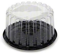 8.5″ Black Combo Cake Container 10B-35-G Qty 100 (64930154)
