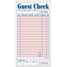 Guest Checks 10 x 5 Books 1PLY